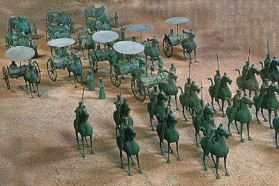 Eastern Han Dynasty Bronze Cavalry and Chariots--Photographic Print