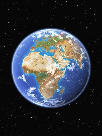 Eastern Hemisphere of Earth-Kulka-Photographic Print