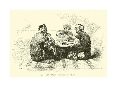 Eastern Mats, Sitting at Meat--Giclee Print