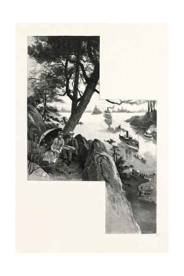 Eastern Ontario, Among the Thousand Islands, Canada, Nineteenth Century--Giclee Print