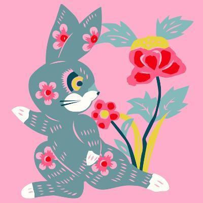 Eastern Pop Bunny--Giclee Print