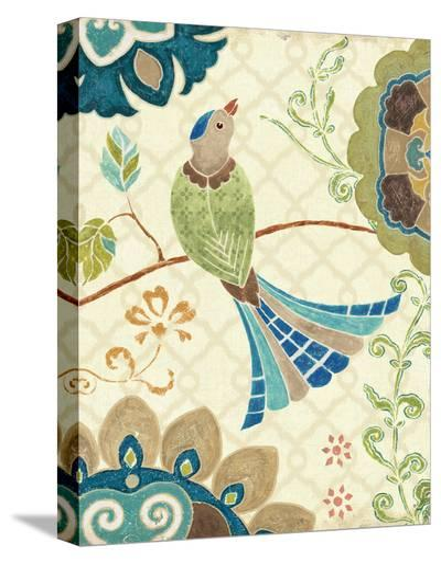 Eastern Tales Bird IV-Daphne Brissonnet-Stretched Canvas Print