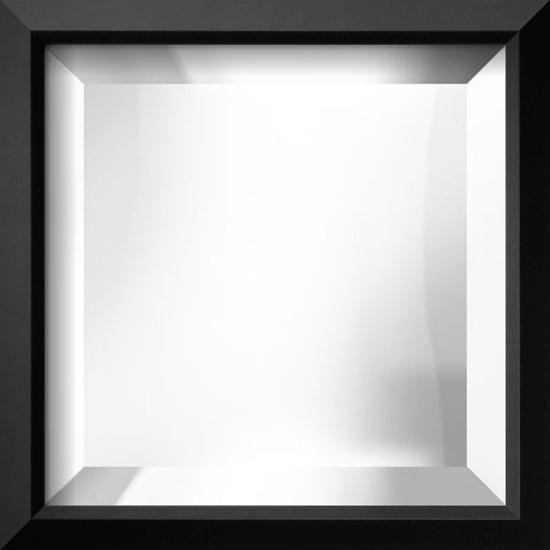 EASTMAN Black Thin Mirror--Wall Mirror