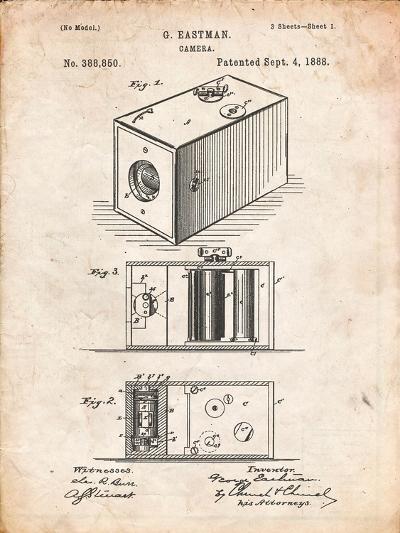 Eastman Vintage Camera Patent-Cole Borders-Art Print