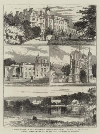 Eastwell Park, Country Seat of the Duke and Duchess of Edinburgh-Joseph Nash-Giclee Print