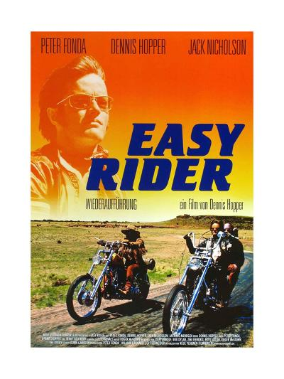 Easy Rider, Peter Fonda on German Poster Art, 1969--Giclee Print