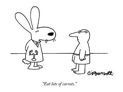 """Eat lots of carrots."" - New Yorker Cartoon-Charles Barsotti-Premium Giclee Print"