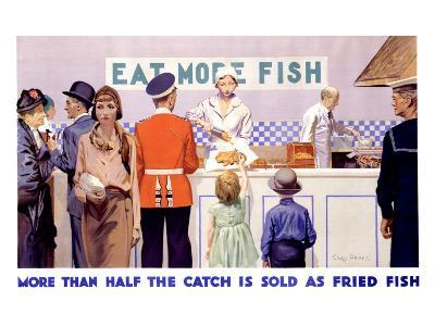 Eat More Fish-Charles Pears-Giclee Print