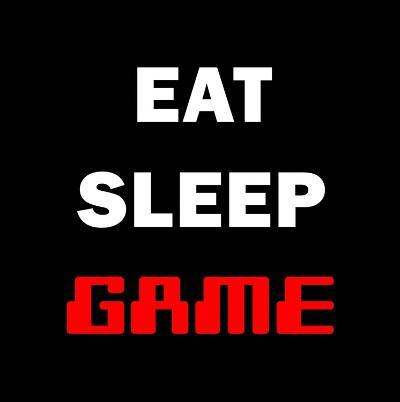 Eat Sleep Game - Black-Color Me Happy-Art Print