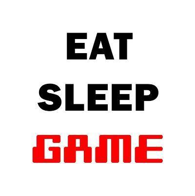 Eat Sleep Game - White-Color Me Happy-Art Print