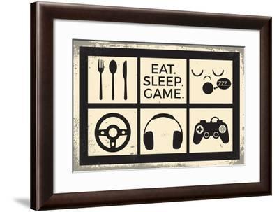 Eat Sleep Game-ND Art-Framed Art Print