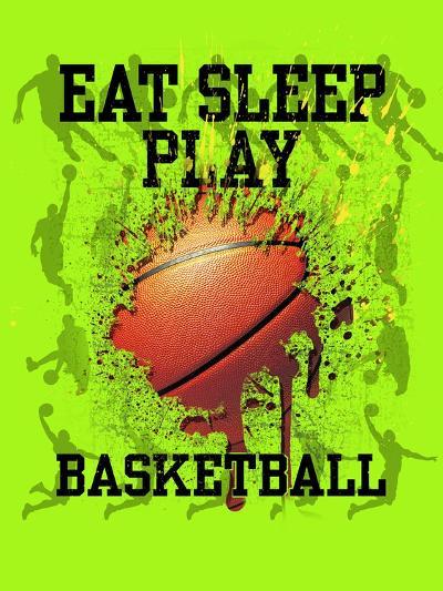 Eat Sleep Play Basketball-Jim Baldwin-Art Print