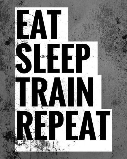 Eat Sleep Train Repeat-Color Me Happy-Art Print