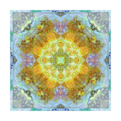Eatheral Blue Mandala-Alaya Gadeh-Art Print