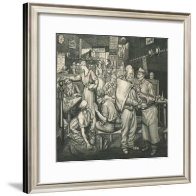 Eating-House, Chelsea, c1911-1924, (1924)-Job Nixon-Framed Giclee Print