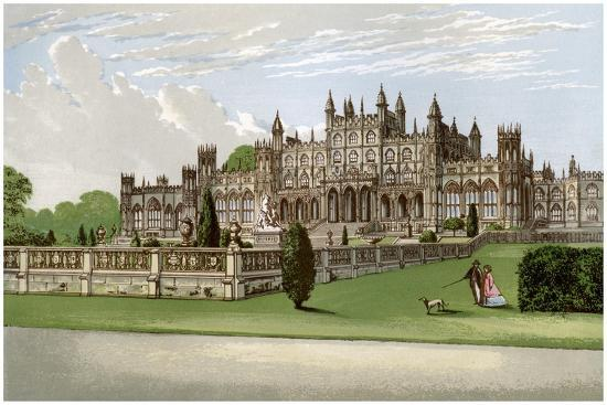 Eaton Hall, Cheshire, Home of the Duke of Westminster, C1880-AF Lydon-Giclee Print