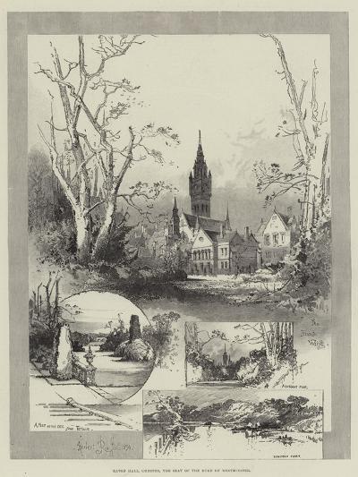 Eaton Hall, Chester, the Seat of the Duke of Westminster-Herbert Railton-Giclee Print