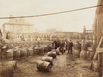Ebano Bitumen Stored at Elizabeth Wharf, Limehouse, London, C1900--Photographic Print