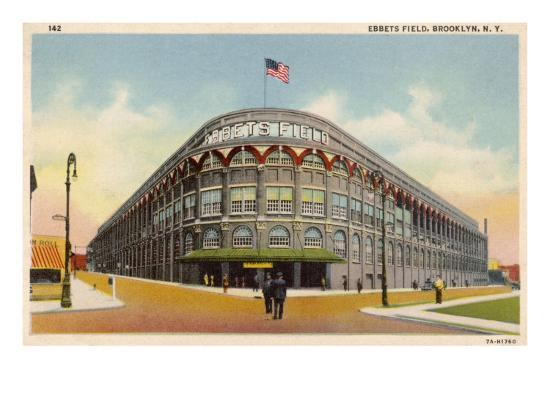 Ebbets Field, Brooklyn, New York, Home of the Brooklyn Dodgers in the 1930s--Giclee Print