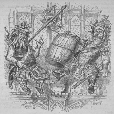 Gog and Magog with a Barrel, 1840