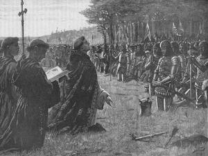 The Thanksgiving Service on the Field of Agincourt, France, 1415 by EBL