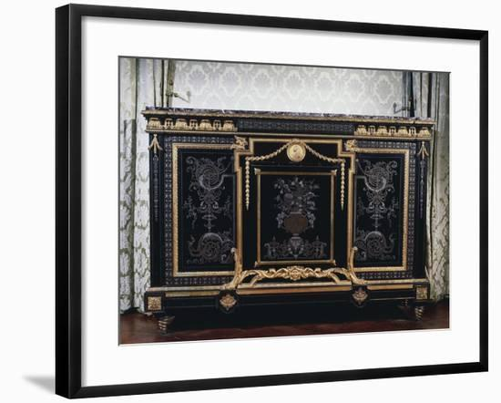Ebony Commode with Metal Inlays-Andre-charles Boulle-Framed Giclee Print