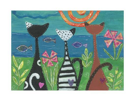 EC-102-Cats - Serenity-Elizabeth Claire-Giclee Print