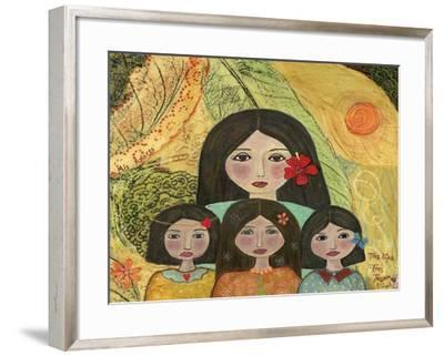 EC-73 - Mother Of Three Girls-Elizabeth Claire-Framed Giclee Print