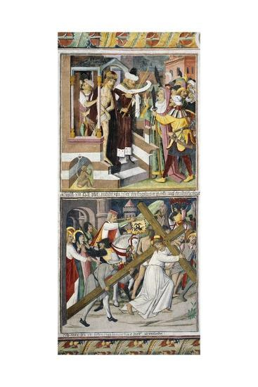 Ecce Homo and Jesus Carrying Cross-Giovanni Canavesio-Giclee Print