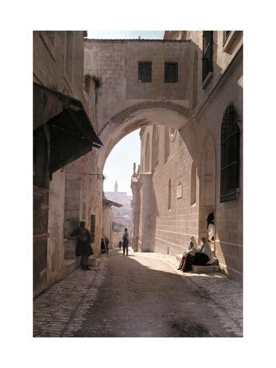 Ecce Homo Arch, a Sacred Religous Landmark, Located in Jerusalem-Hans Hildenbrand-Photographic Print