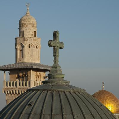 Ecce Homo Dome, Minaret and Dome of the Rock, Jerusalem, Israel, Middle East-Eitan Simanor-Photographic Print