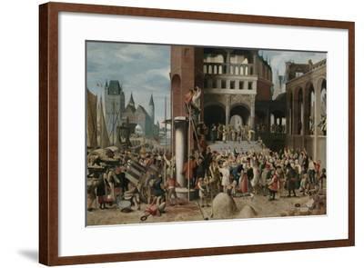 Ecce Homo Pilate Shows Christ to the People-Brunswijkse Monogrammist-Framed Art Print