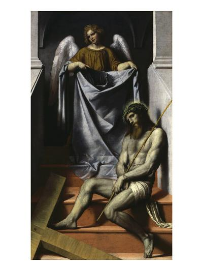 Ecce Homo with Angel, C. 1550-Alessandro Bonvicino Moretto-Giclee Print