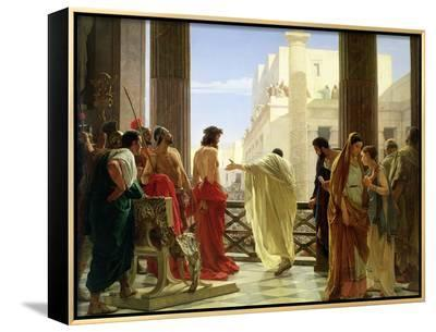 Ecce Homo-Antonio Ciseri-Framed Canvas Print