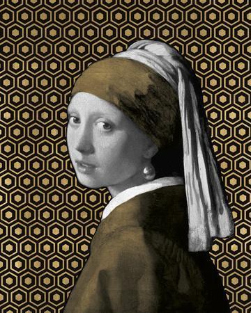 Gilded Earring (after Jan Vermeer)