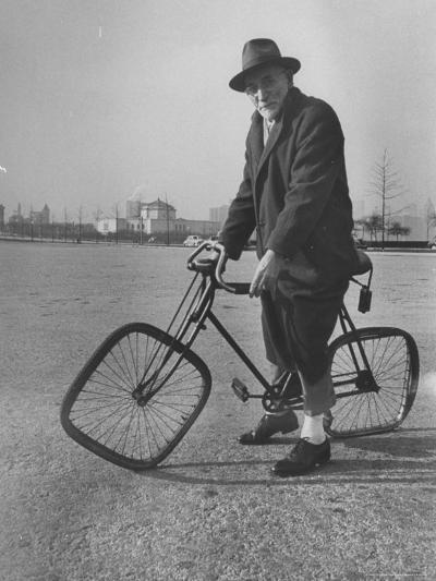 Eccentric Square-Wheeled Bicycle-Wallace Kirkland-Photographic Print