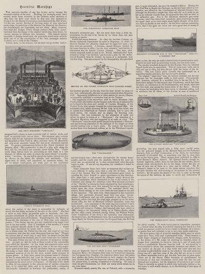 Eccentric Warships--Giclee Print
