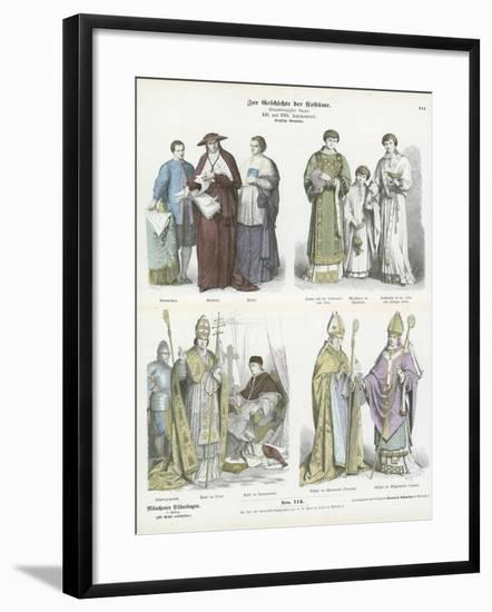 Ecclesiastical Costumes, 16th and 17th Century--Framed Giclee Print