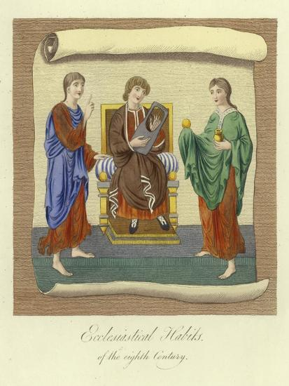 Ecclesiastical Habits of the 8th Century--Giclee Print