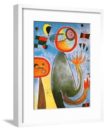 Echelles en Roue de Feu Traversant-Joan Miro-Framed Art Print
