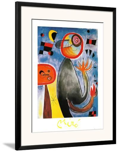 Echelles en Roue de Feu Traversant-Joan Mir?-Framed Art Print