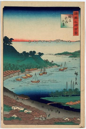 Echigo Niigata No Kei-Utagawa Hiroshige-Giclee Print