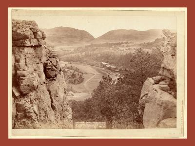 Echo Canyon. Looking Through Sioux Pass. on F.E. and M.V. Ry., Hot Springs, S.D-John C. H. Grabill-Giclee Print