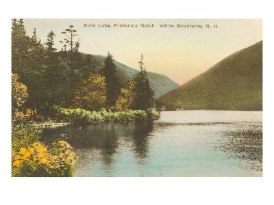 Echo Lake, Franconia Notch, New Hampshire--Art Print