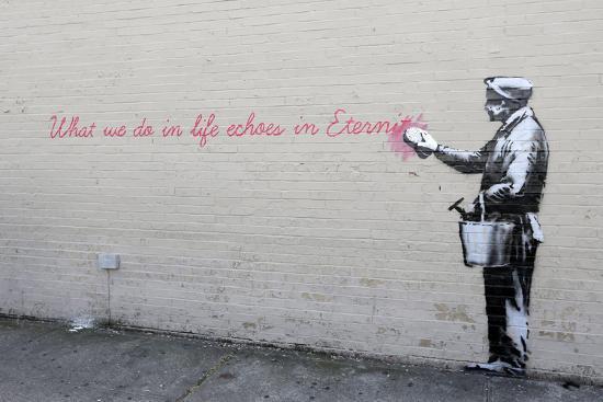 Echoes-Banksy-Premium Giclee Print