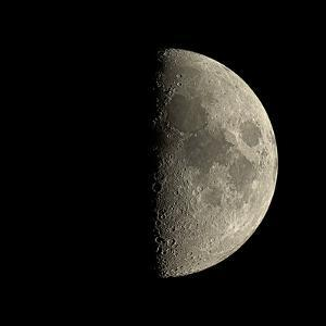 First Quarter Moon by Eckhard Slawik