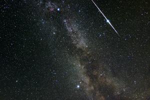 Perseid Meteor Shower, Meteor Track by Eckhard Slawik