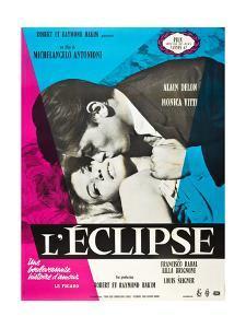 Eclipse, (aka L'Eclisse), Alain Delon, Monica Vitti on French Poster Art, 1962