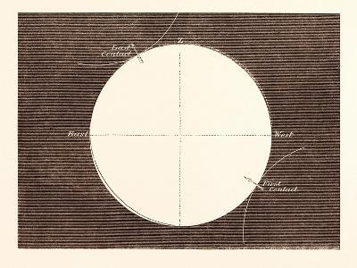 Eclipse of the Sun, March 15, 1858--Giclee Print