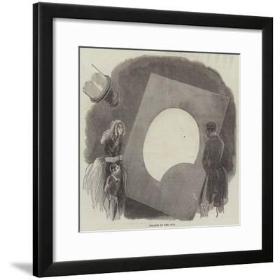 Eclipse of the Sun--Framed Giclee Print